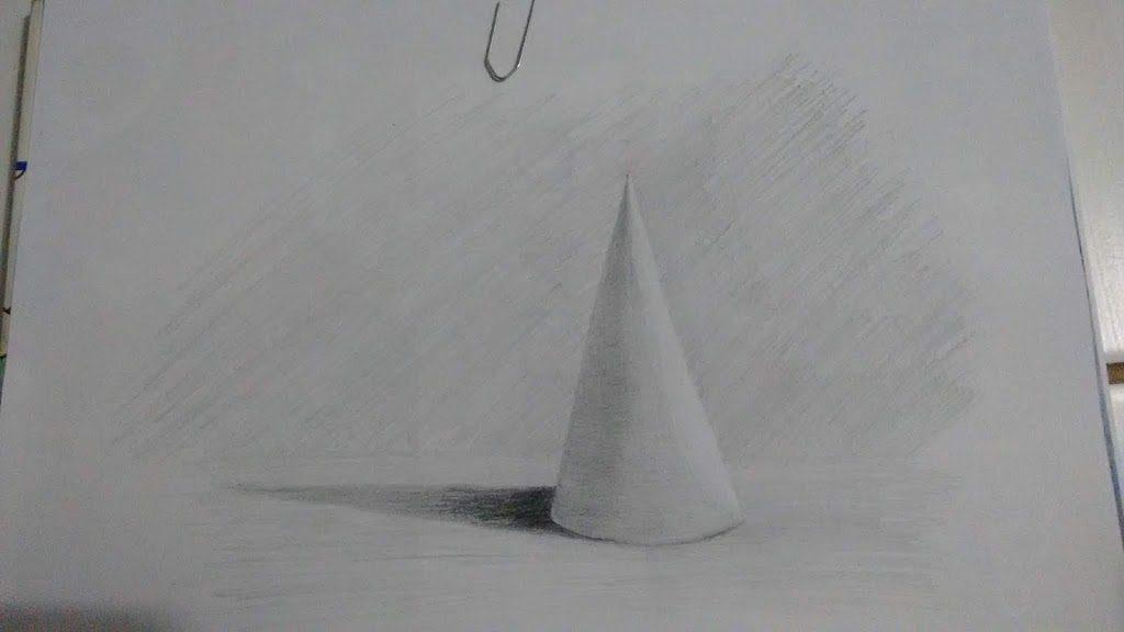 Exercício sombra e luz: Cone