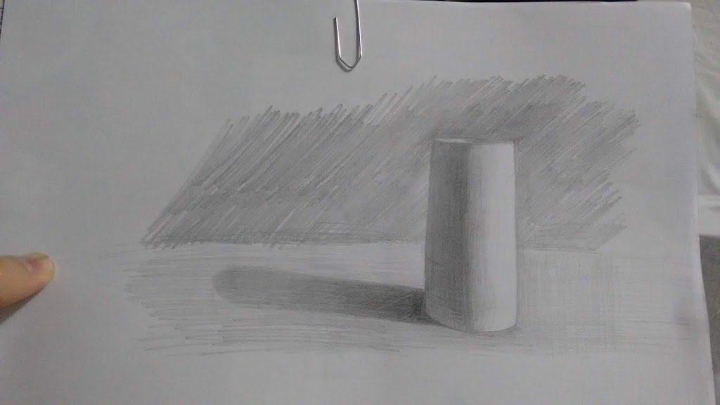 Exercício sombra e luz: Cilindro