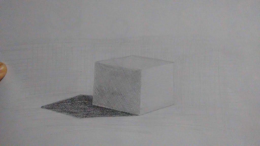 Exercício sombra e luz: Cubo