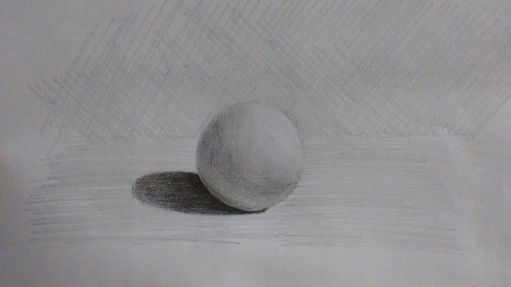 Exercício sombra e luz: Esfera