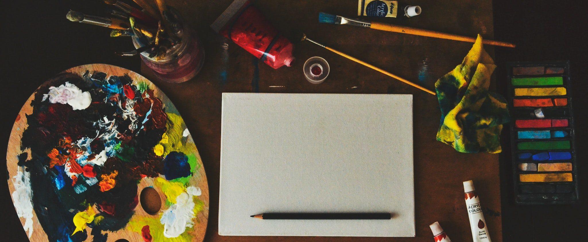 Ambiente de trabalho de arte