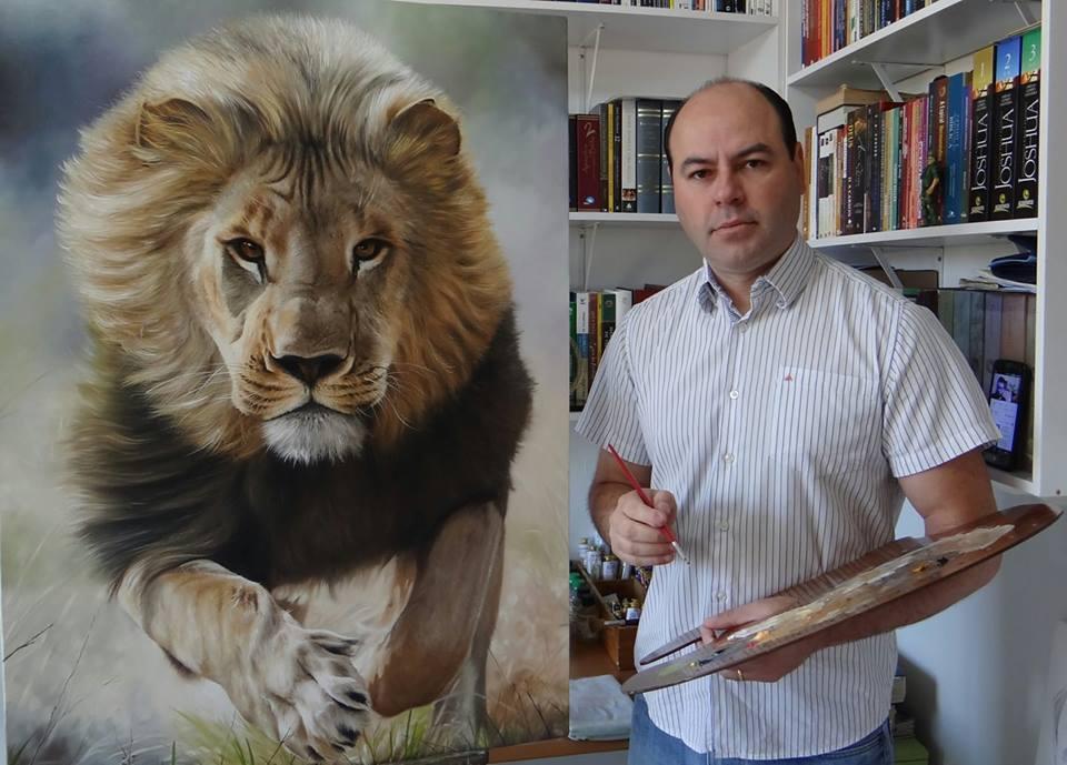 Mestre Elton Brunetti pintura a óleo