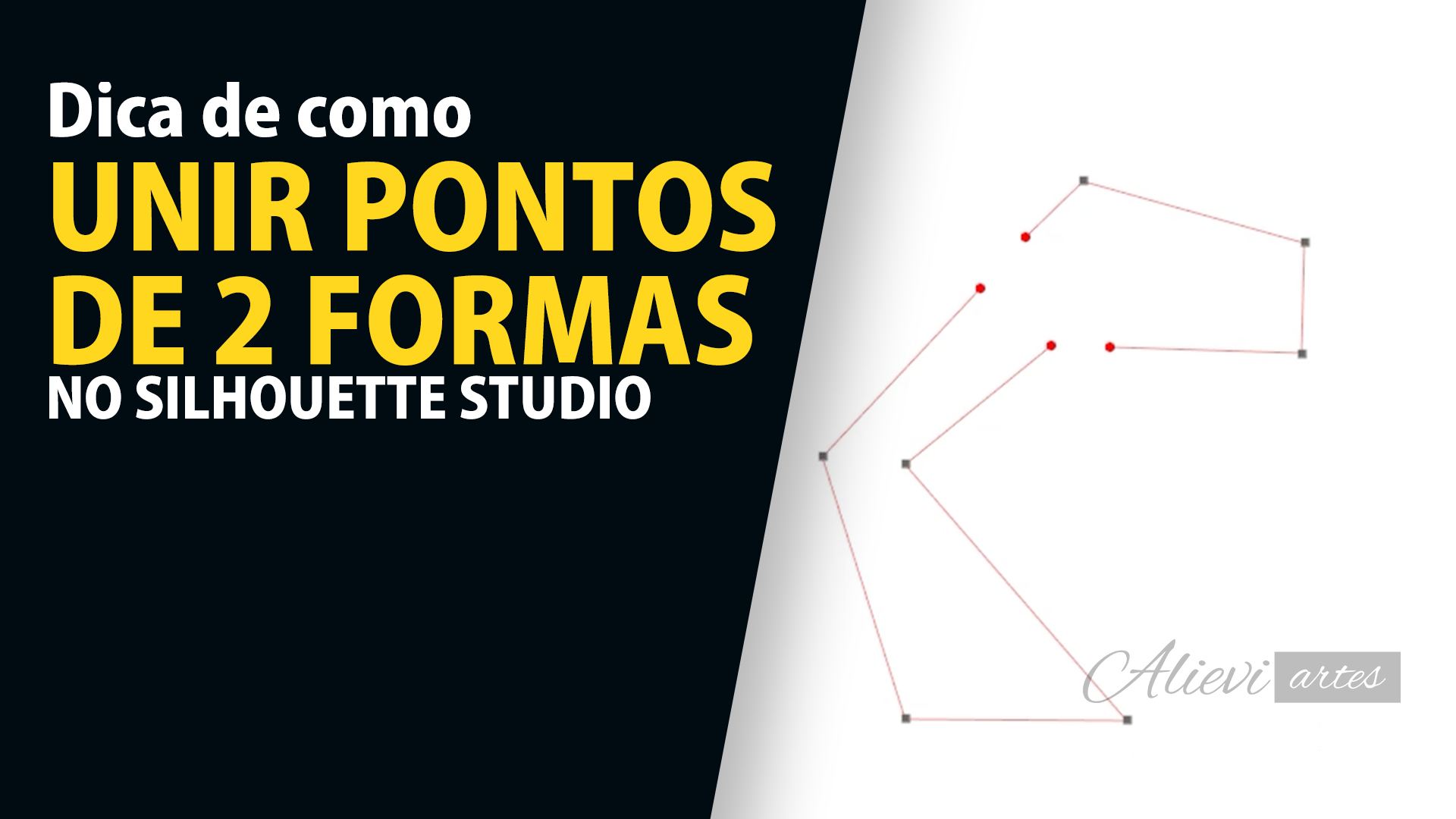 como unir pontos no silhouette studio